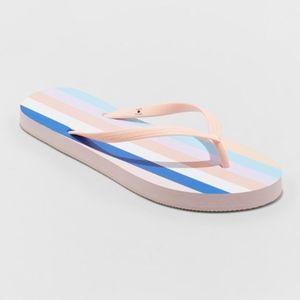Women's Sara Stripe Flip Flops